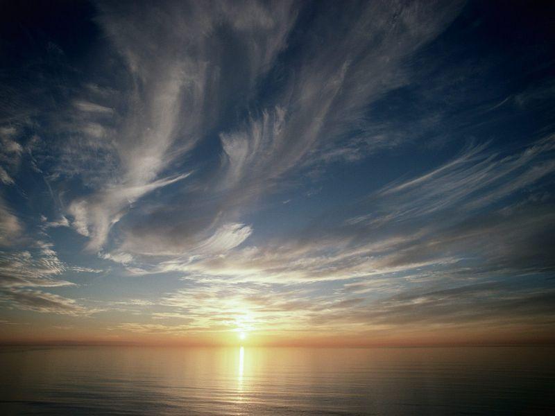 Красивые фото заката солнца - Sunset, La Jolla, California