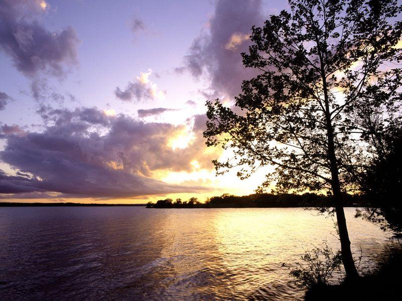 Красивые фото заката солнца - Sunset, Llano County, Texas