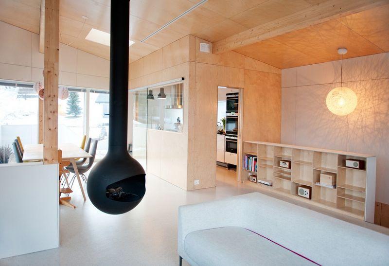 Компактный белый дом в Тронхейме 12