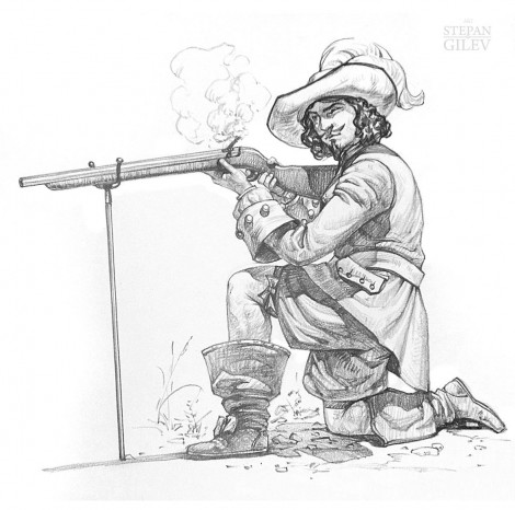 Как-рисовать-мушкетера-470x466_мушкетёр