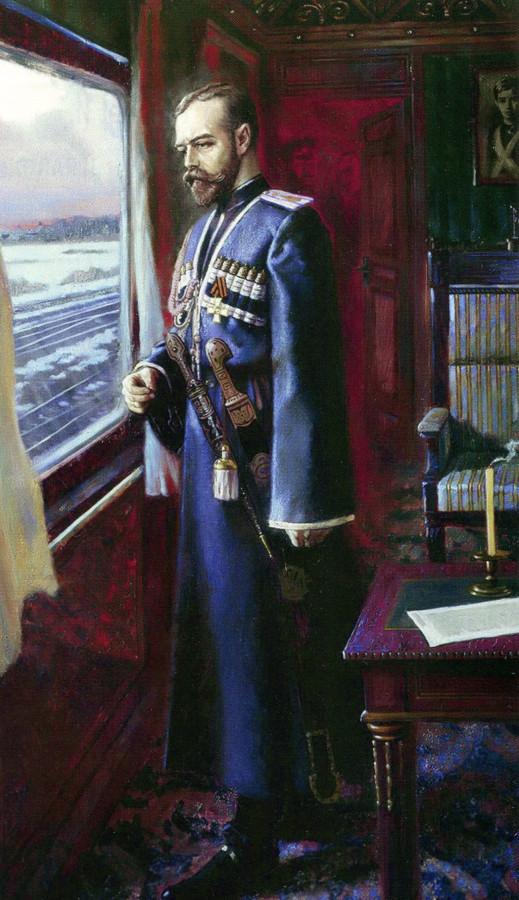 Николай II накануне отречения.