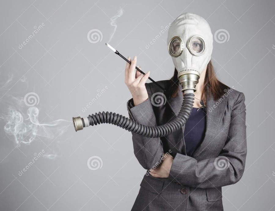 Мужик с женщиной в масках