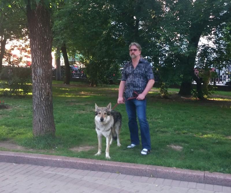 Лёня с Канисом 23 июня 2015 3.jpg