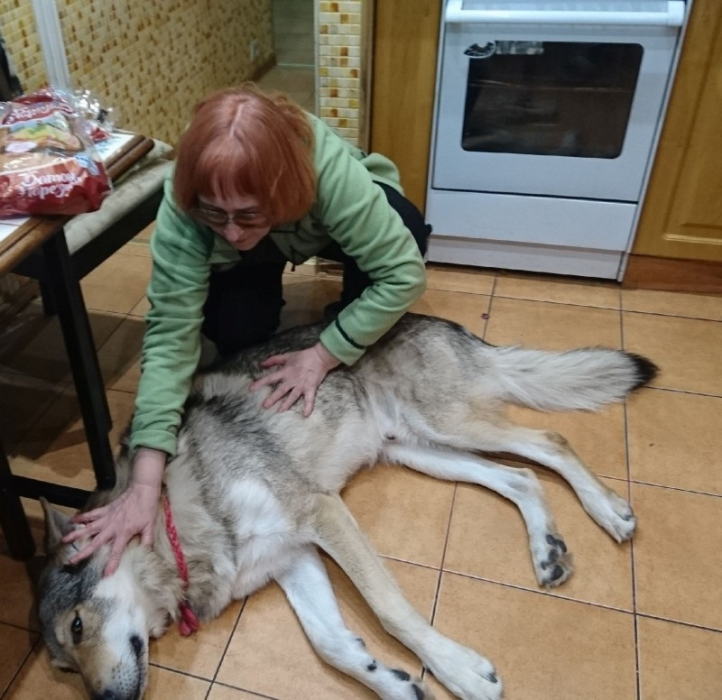 Галя Федулова и Канис 25 декабря 2018 4.jpg