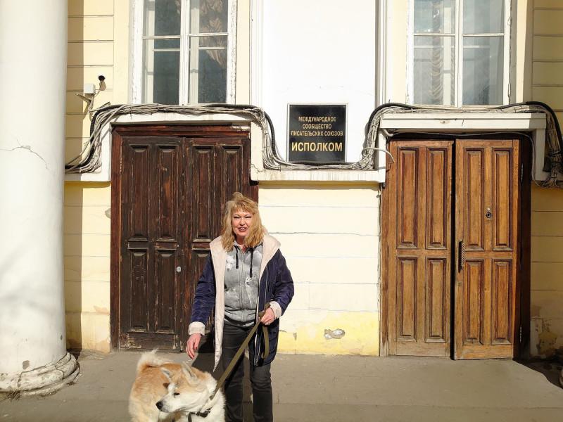 С собакой породы акита ину 4.jpg