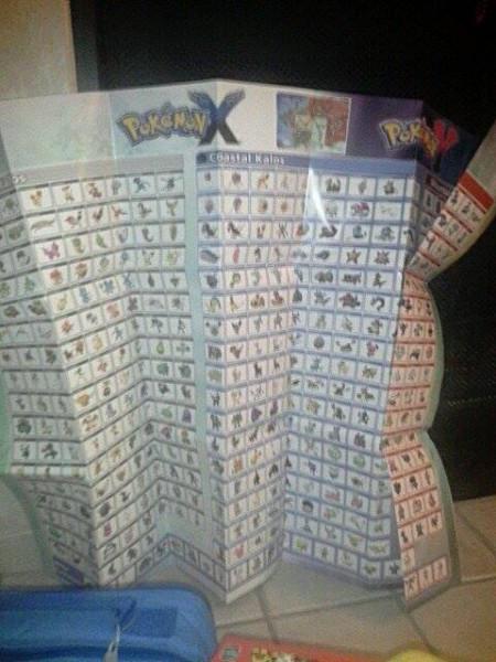 Big 'ol pokemon xy list that came with pokedex xy book
