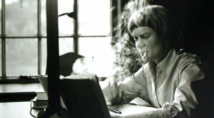 Iris Murdoch at home 1958