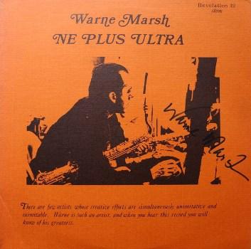 Warne Marsh - Ne Plus Ultra 1969 LP