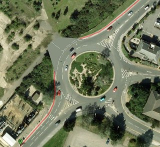 The roundabout, as it will soon look