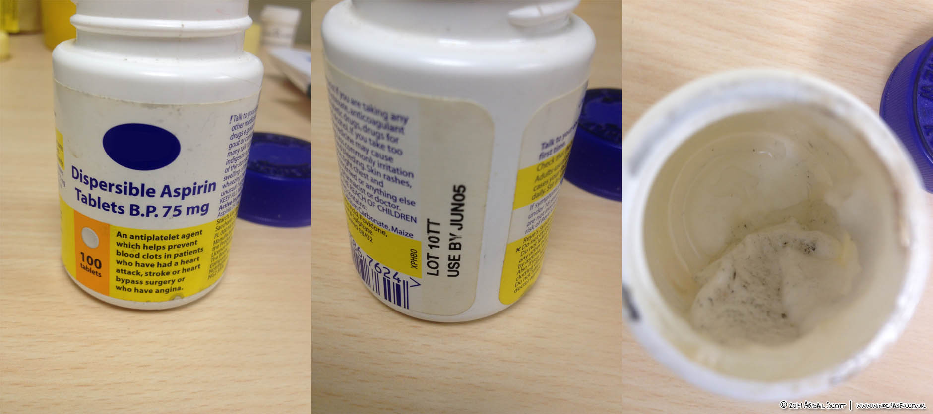 Expired aspirin