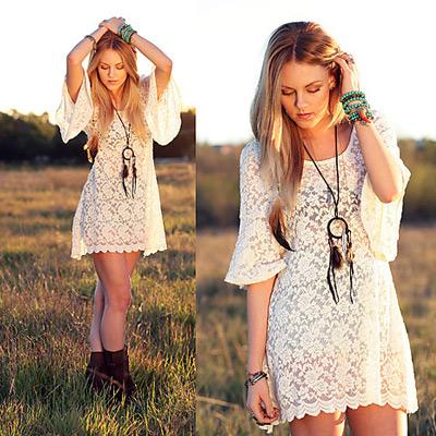 Платье белое кантри стиль