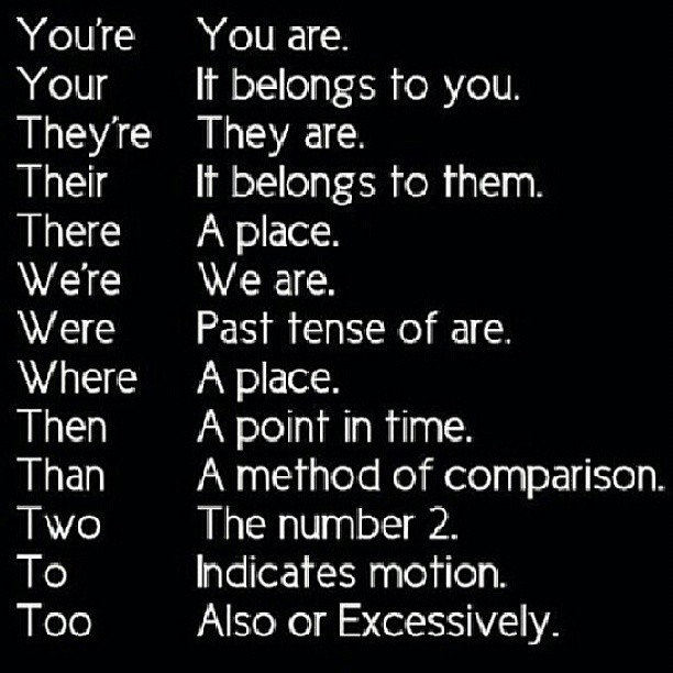 commonly misused homophones