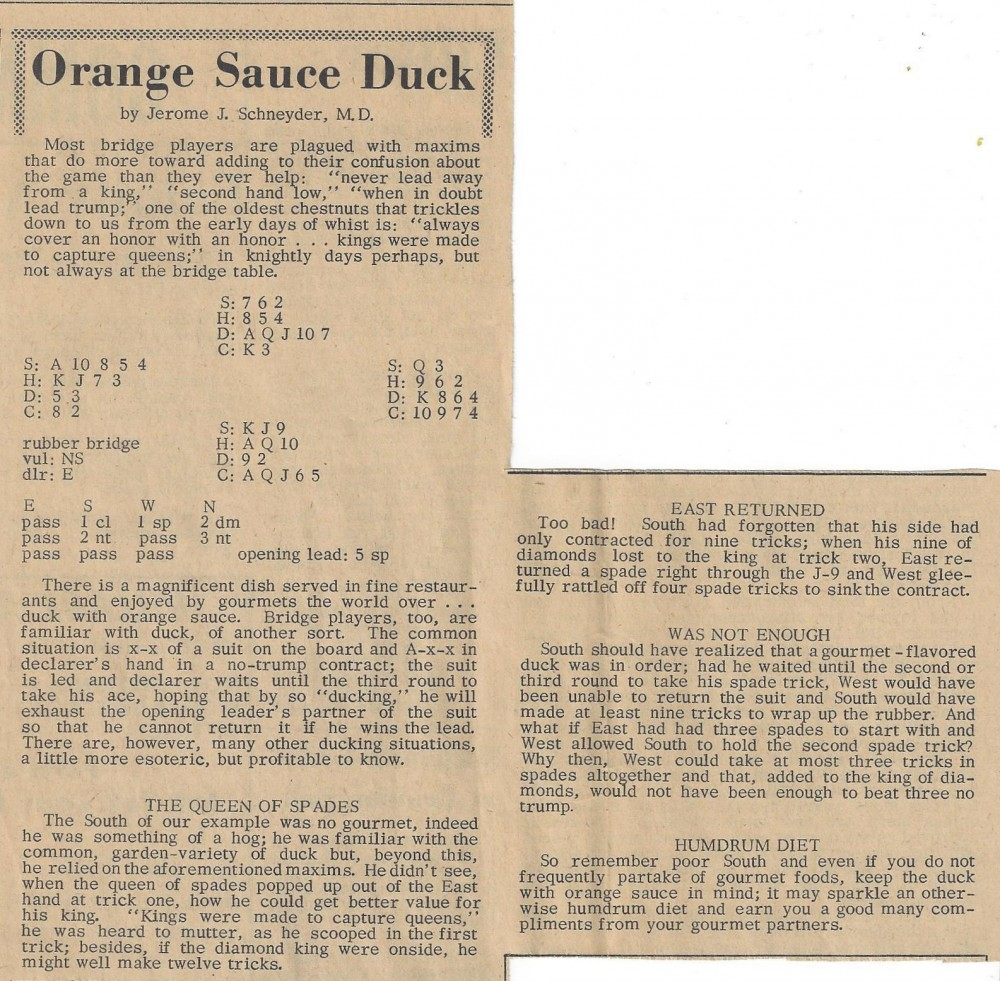 Orange Sauce Duck 18 May 1967 (cropped)