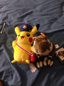 Special Delivery Pikachu & Tyrunt PokeCenter Plushes