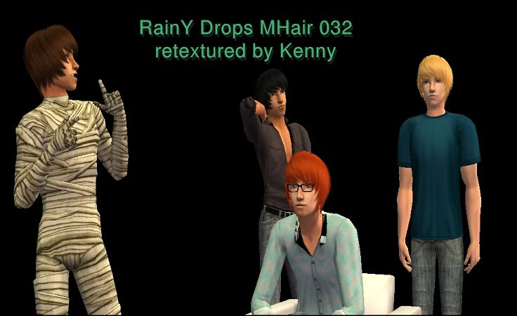 RainY Drops MHair 032 - retextured by kenny