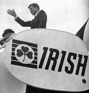JFK arrives in Ireland