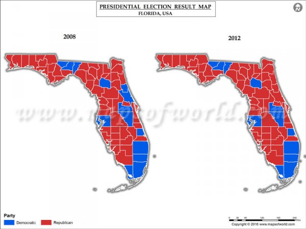 Presidential election results who won florida