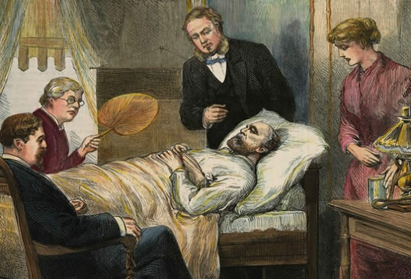 On Monday, September 19, 1881, at 10:20 p.m. President James Garfield suffered a massive heart attack and a ruptured splenic artery aneurysm, ...