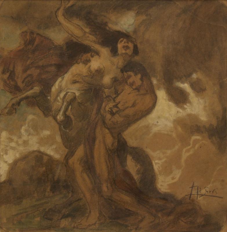 luigi-de-servi-dipinto-centauro