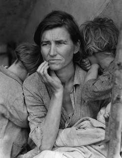 Фермерская семья во время кризиса. Фото Доротеи Ланге