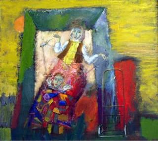 """Кравчучка"". Александр Садовский, полотно, масло, 1998 г."