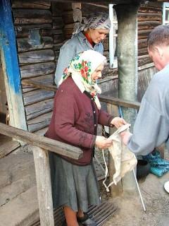 Баба Ганя с торбой