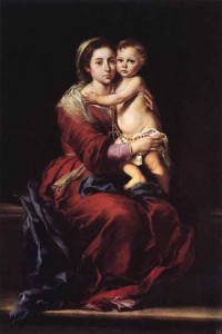 Мадонна с Младенцем и чётками. 1650-55