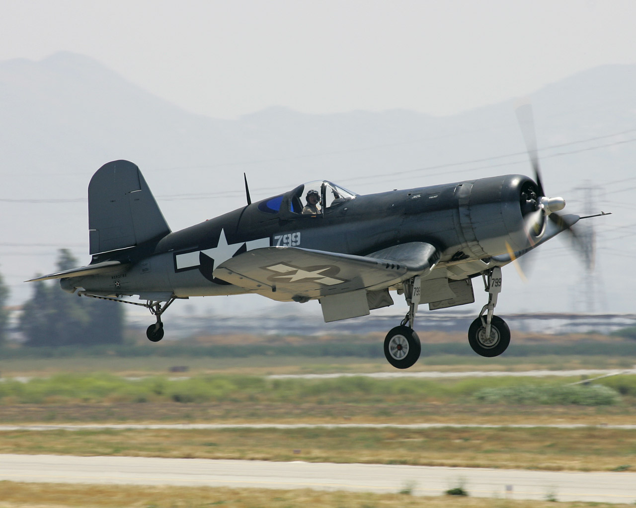 Обои истребитель, «корсар», Fg-1d, corsair. Авиация foto 19