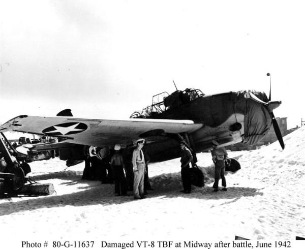 TBF-1 4 june 1942 VT-8