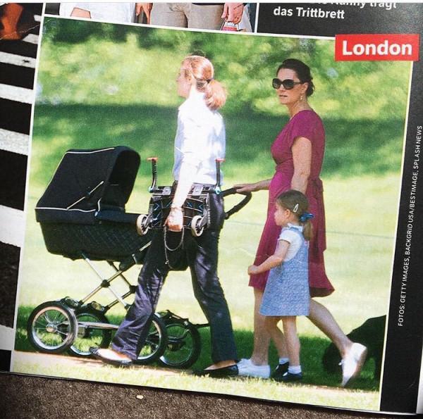 Кейт гуляет с детьми в садах Кенсингтонского дворца