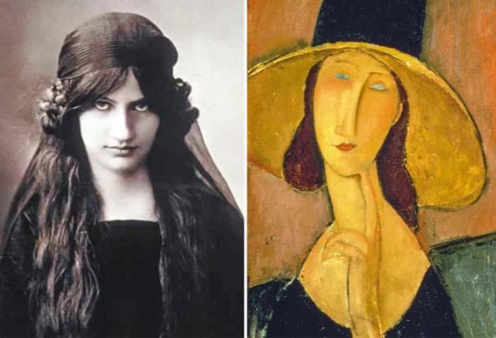 Портрет Жанны Эбютерн в большой шляпе_Амедео Модильяни