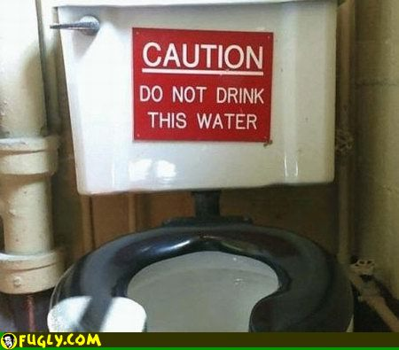 This water might be unclean