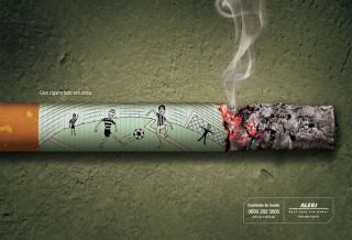 Smoke while playing soccer