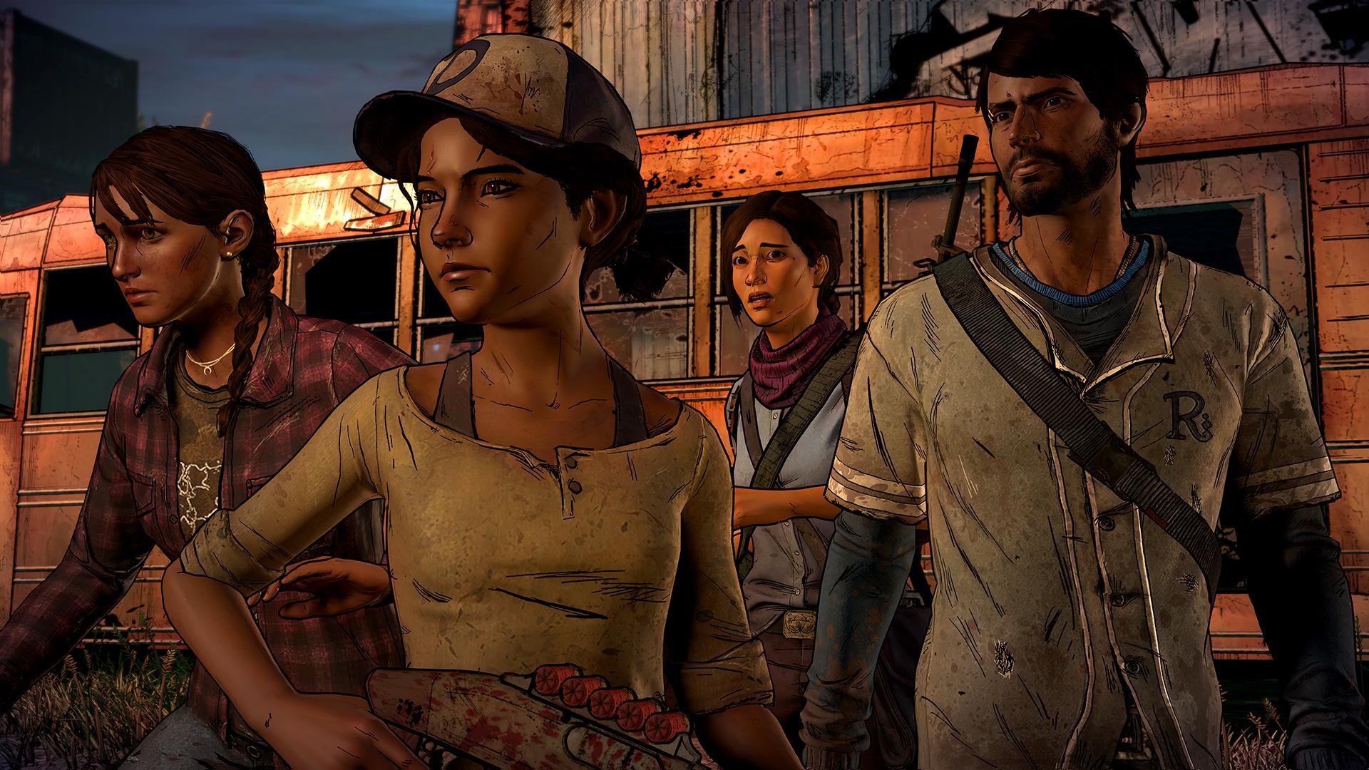 Герои третьего сезона (слева на право): Кейт, Клементина, Элеанора, Хавьер