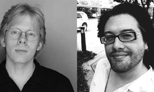 Слева: Джон Кармак; справа — Джон Ромеро