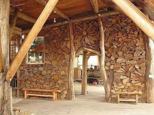 Как построить дом из дров