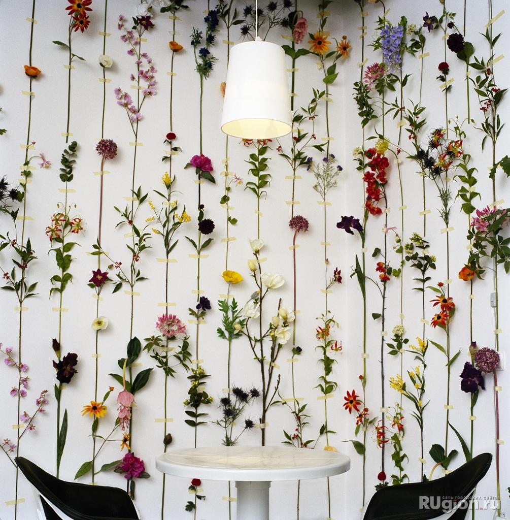 Как декорировать стену своими руками фото