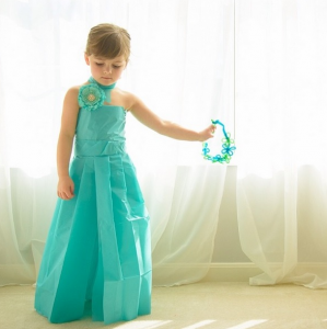 бумажное платье 5