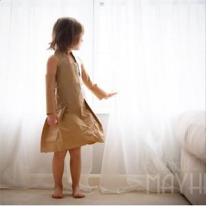 бумажное платье 1