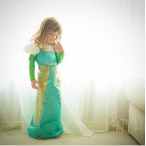 бумажное платье 2