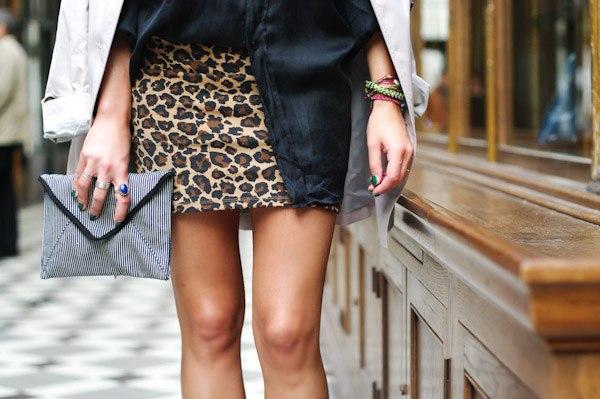 короткая юбка леопард