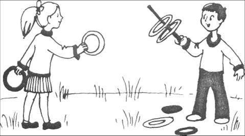 ловля обручей на шпагу
