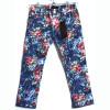 2. Цена 650 руб. Яркие джинсы для девочки с цветочным принтом. . Легкая джинса. 3 кармана спереди, 2 накладных сзади. Шлевки для ремня. Пуговица обманка с фирменным логотипом Catimini - на самом деле кнопка, для удобства надевания. Состав:100% хлопок Размеры: 4,5,6,8,10A
