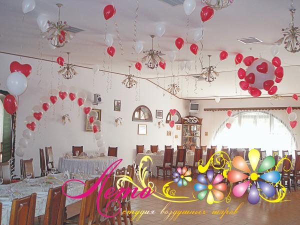 Украшение свадьбы воздушными шарами Лето 1
