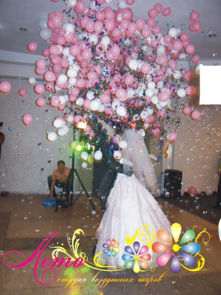 Украшение свадьбы воздушными шарами Лето 6