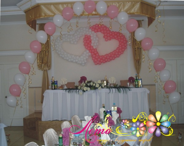 Украшение свадьбы воздушными шарами Лето 8