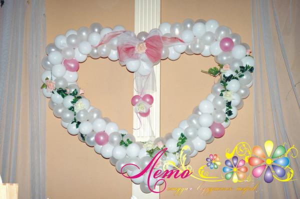 Украшение свадьбы воздушными шарами Лето 16