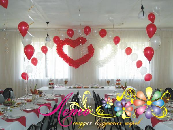 Украшение свадьбы воздушными шарами Лето 17