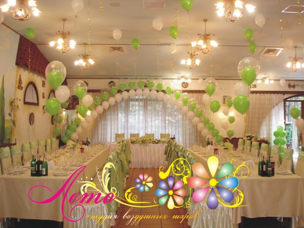 Украшение свадьбы воздушными шарами Лето 32
