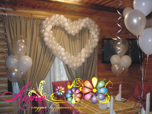 Украшение свадьбы воздушными шарами Лето 33